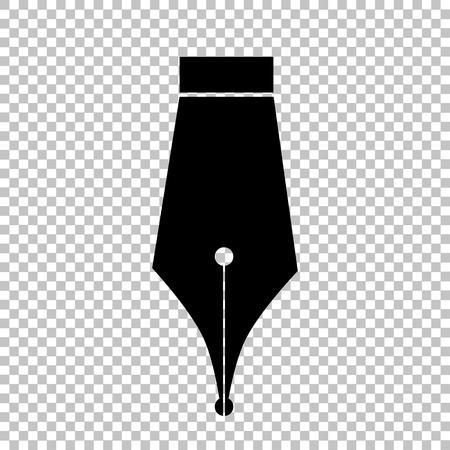 펜 기호입니다. 투명 배경에 플랫 스타일 아이콘 스톡 콘텐츠 - 52180080