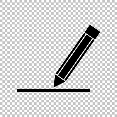 Pencil sign. Flat style icon on transparent background