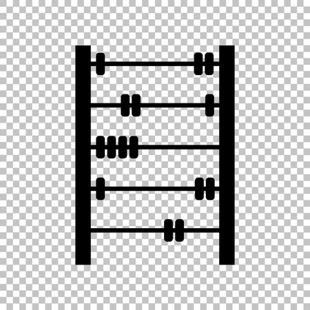 abacus: Retro abacus sign. Flat style icon on transparent background Illustration