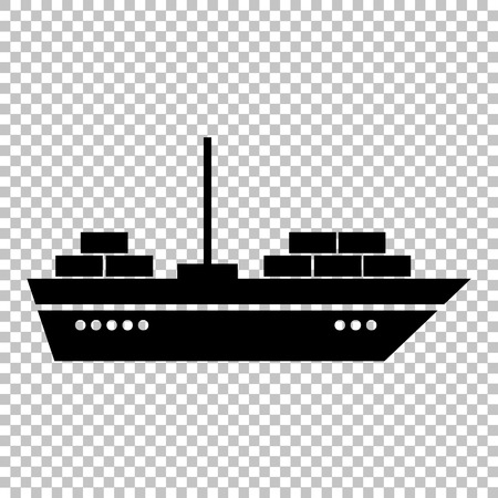 ship sign: Ship sign. Flat style icon on transparent background