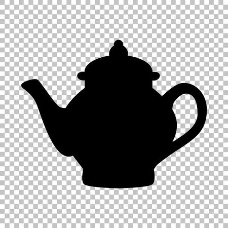 sign maker: Tea maker sign. Flat style icon on transparent background Illustration