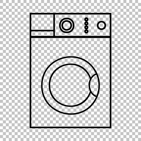 major household appliance: Washing machine sign. Flat style icon on transparent background