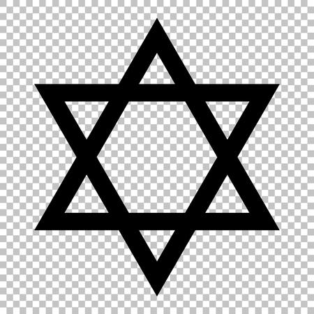 estrella de david: Escudo Magen David símbolo de Israel. La estrella de David en el fondo transparente Vectores
