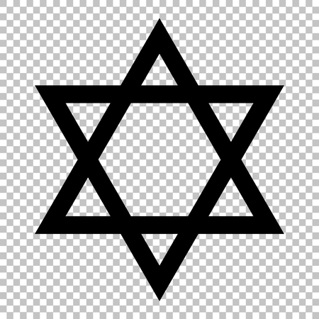 jewish star: Shield Magen David Symbol of Israel. David star on transparent background