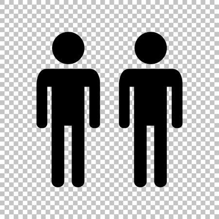 gay family: Gay family sign. Flat style icon on transparent background