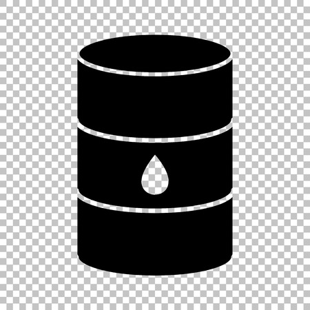 Oil barrel sign. Flat style icon on transparent background