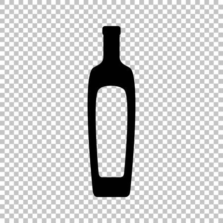 salad dressing: Olive oil bottle sign. Flat style icon on transparent background Illustration