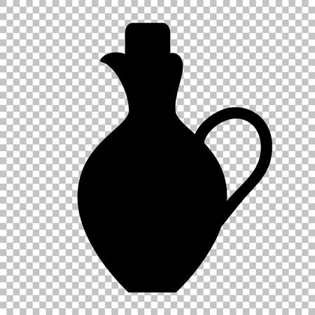 amphora: Amphora sign. Flat style icon on transparent background Illustration