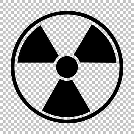 perilous: Radiation Round sign. Flat style icon on transparent background Illustration