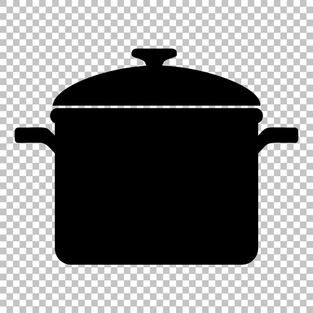 Cooking pan sign. Flat style icon on transparent background Illustration