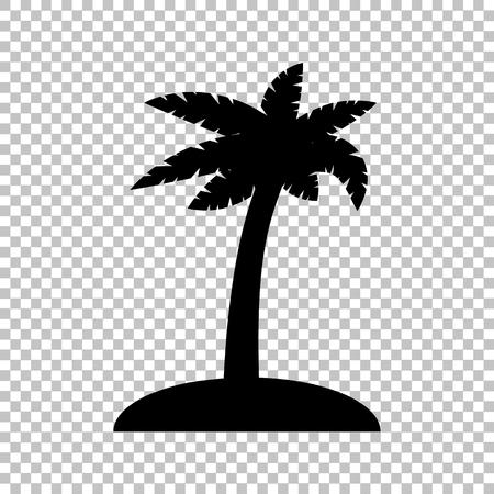Coconut palm tree sign. Flat style icon on transparent background Ilustração