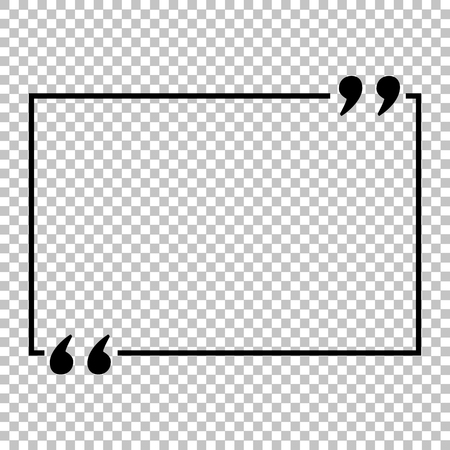 Text quote sign. Flat style icon on transparent background