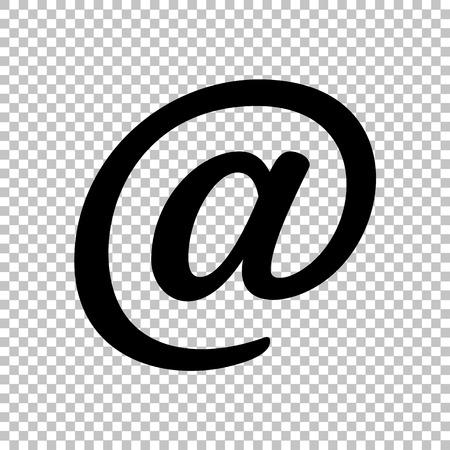 e mailing: Mail sign. Flat style icon on transparent background Illustration