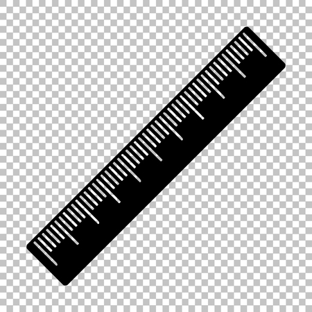 Centimeter ruler sign. Flat style icon on transparent background 矢量图像
