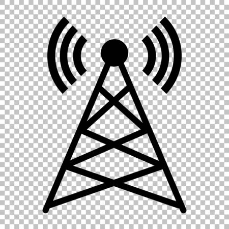 Antenna sign. Flat style icon on transparent background