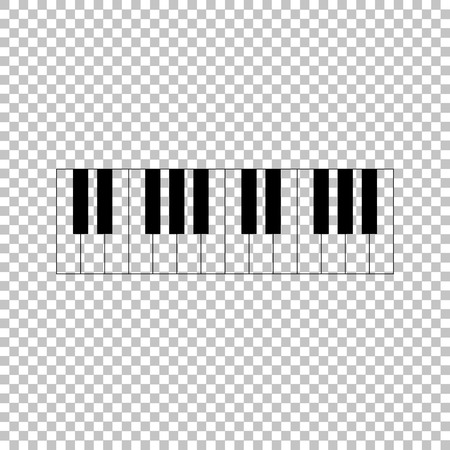 acoustically: Piano Keyboard  sign. Flat style icon on transparent background Illustration