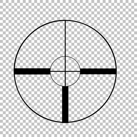 Crosshair Target  sign. Flat style icon on transparent background