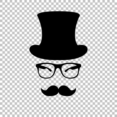 Hipster style accessories design. Flat style icon on transparent background Çizim
