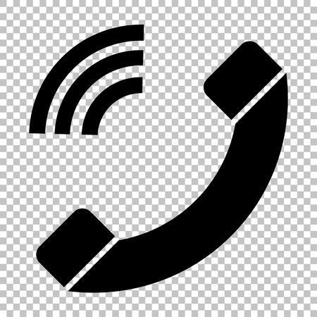 communication icons: Phone sign. Flat style icon on transparent background Illustration