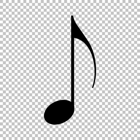 Music note signe. Flat icône de style sur fond transparent Banque d'images - 52184883
