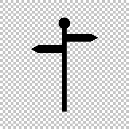 direction sign: Direction road sign. Flat style icon on transparent background Illustration