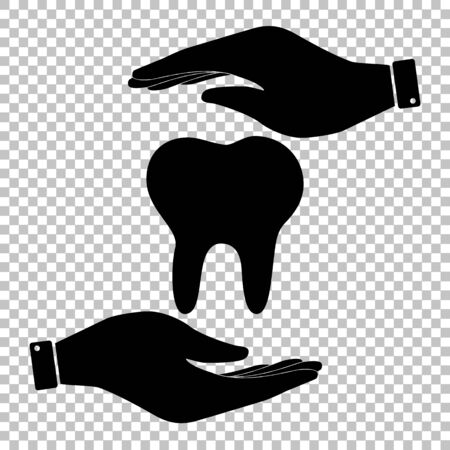 mouth pain: Tooth sign. Flat style icon vector illustration. Illustration