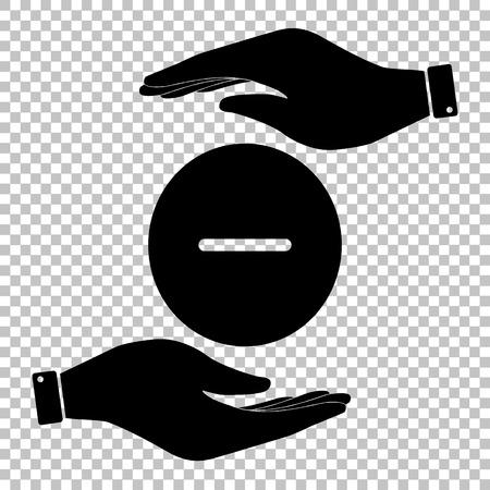 minus sign: Negative symbol. Minus sign. Flat style icon vector illustration. Illustration