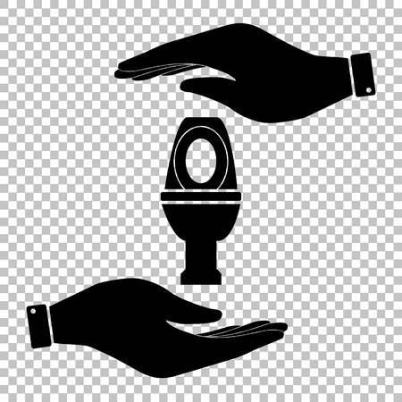 flush toilet: Toilet sign. Flat style icon vector illustration. Illustration