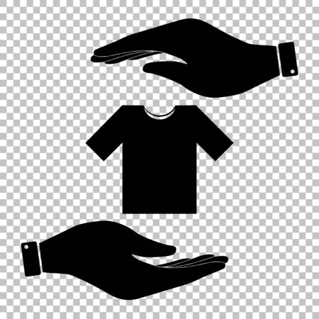 t short: T-shirt sign. Flat style icon vector illustration.
