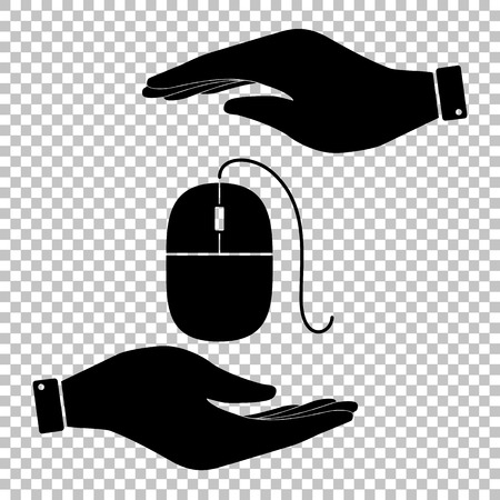 Mouse sign. Flat style icon vector illustration. Illustration
