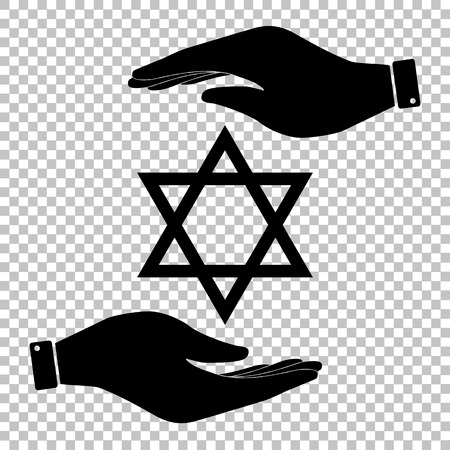 jews: Star Shield Magen David. Symbol of Israel.