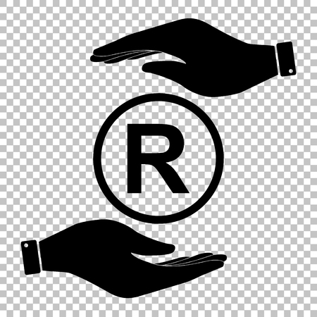 Registered Trademark sign. Flat style icon vector illustration. Vector Illustration