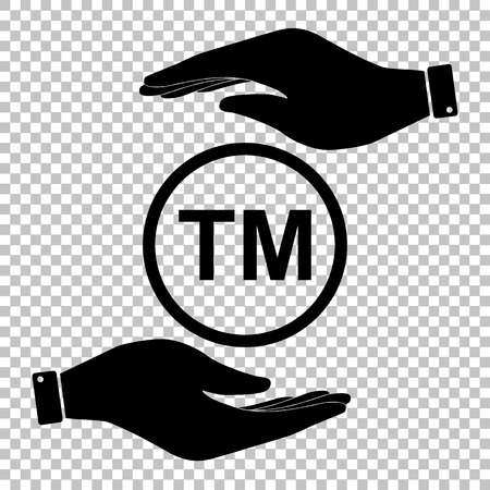 trade mark: Trade mark sign. Flat style icon vector illustration.