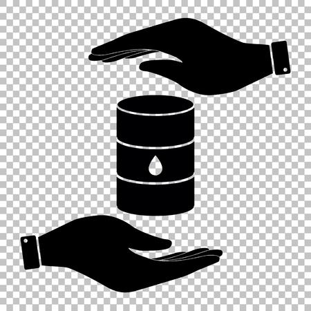 バレル サインを石油します。フラット スタイル アイコンのベクトル図です。