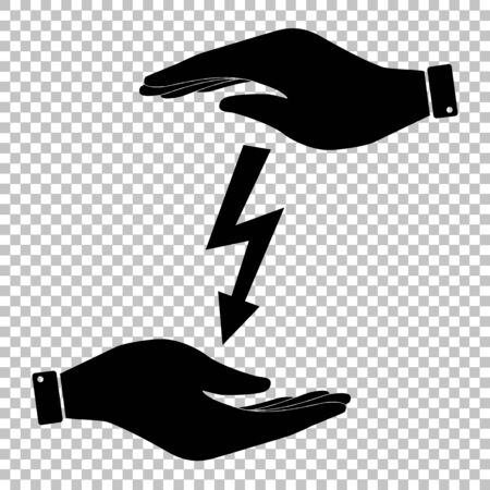 volte: High voltage danger sign. Flat style icon vector illustration. Illustration