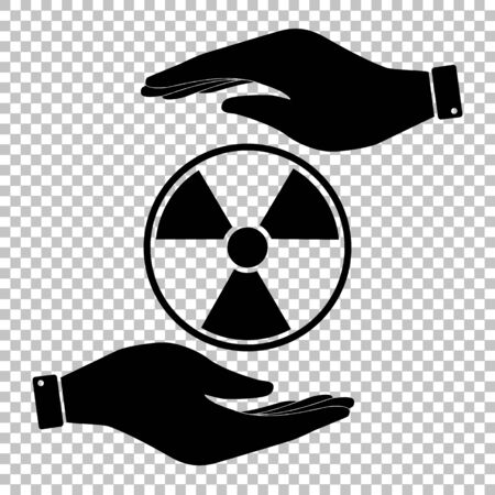 perilous: Radiation Round sign. Flat style icon vector illustration.