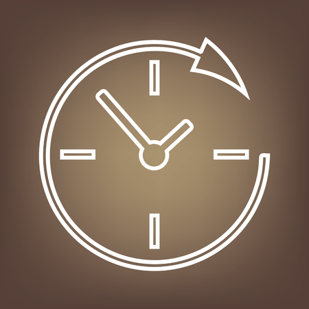 shop opening hours: Service and support for customers around the clock and 24 hours  line icon