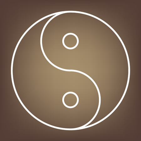 yinyang: Ying yang symbol of harmony and balance. line  icon