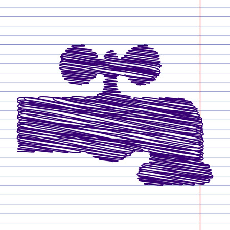 spew: The water faucet icon with scrible effect on paper