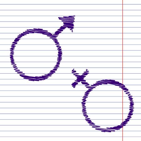 sex symbol: Sex symbol. Vector illustration with chalk effect Stock Photo