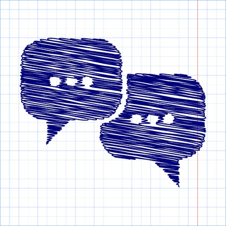 dialog baloon: Speach bubles icon with pen effect. Vector illustration Illustration