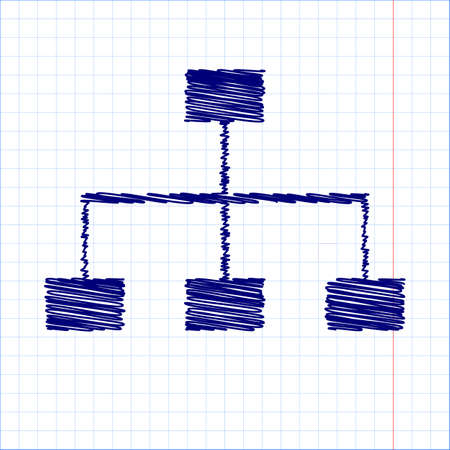 site map: site map icon for your projects with pen and school paper effect