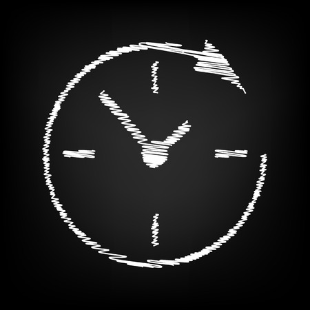 around the clock: Service and support for customers around the clock and 24 hours  with chalk effect