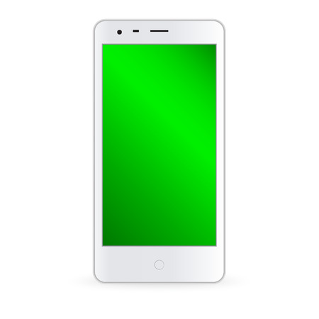 palmtop: Modern smartphone illustration. Isolated on the white bavkground