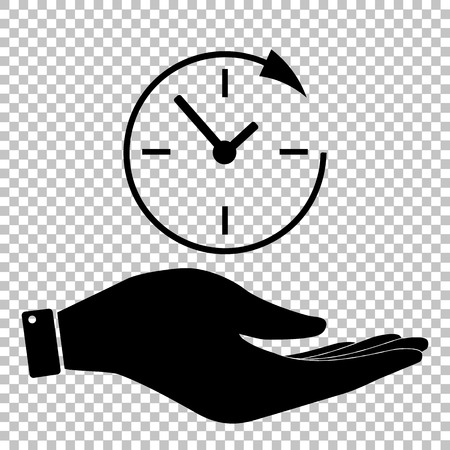 shop opening hours: Service and support for customers around the clock and 24 hours. Save or protect symbol by hand