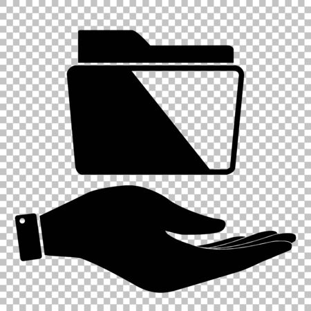 web directories: Folder sign. Flat style icon vector illustration. Illustration