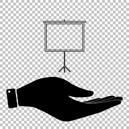 projection screen: Blank Projection screen. Flat style icon vector illustration. Illustration