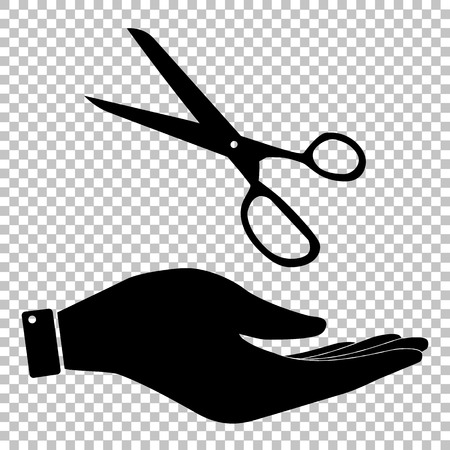 snip: Scissors sign. Flat style icon vector illustration.