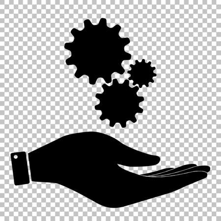 wheel change: Settings sign. Flat style icon vector illustration.