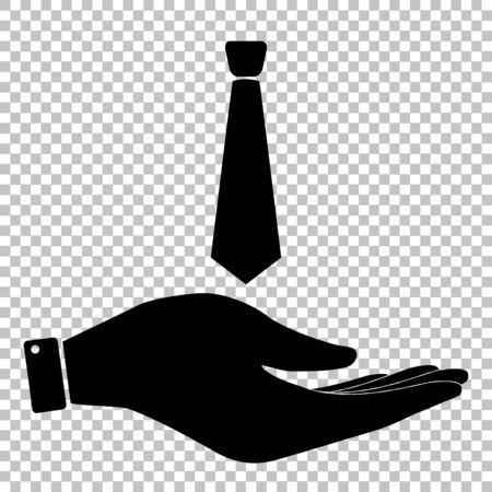 dresscode: Tie sign. Save or protect symbol by hand Illustration